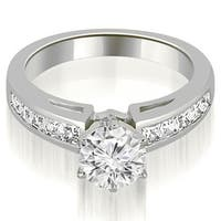 1.20 ct.tw 14K White Gold Channel Set Princess Cut Diamond Engagement Promise Ring HI, SI1-2