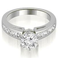 1.20 ct.tw 14K White Gold Channel Set Princess Cut Diamond Engagement Promise Ring HI, SI1-2