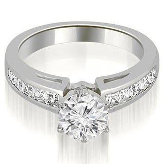 1.25 CT.TW Channel Set Princess Cut Diamond Engagement Ring - White H-I