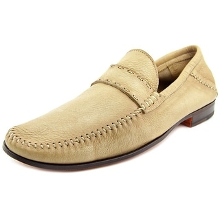 Santoni MCPS Men Round Toe Leather Loafer