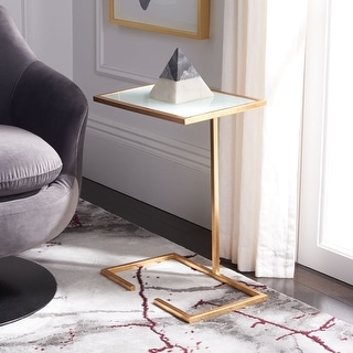 """Link to SAFAVIEH Treasures Neil Gold/ White Top Accent Table - 16"""" x 10.1"""" x 21"""" Similar Items in Living Room Furniture"""