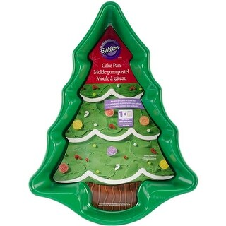 "Green Christmas Tree 13.75""X10.25""X2"" - Novelty Cake Pan"