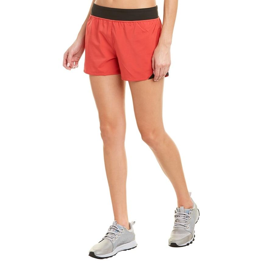 Ideology Womens Performance Printed Training Sport Workout Shorts Purple M