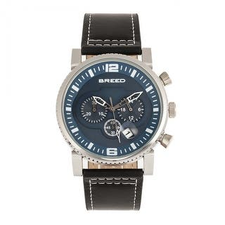 8e93b1c0dbe Breed Ryker Chronograph Leather-Band Watch w Date - Black Teal