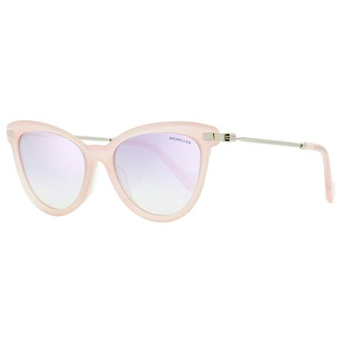 Moncler ML0080 72X Womens Opal Rose/Ruthenium 54 mm Sunglasses - Opal Rose/Ruthenium