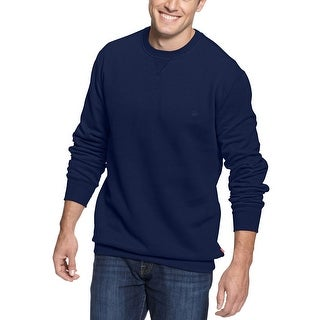 Izod Mens Navy Blue Crewneck Cotton Sweatshirt Small S