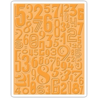 Sizzix Texture Fades A2 Embossing Folder-Numeric