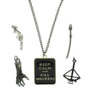 The Walking Dead Keep Calm And Kill Walkers Interchangeable Charm Necklace