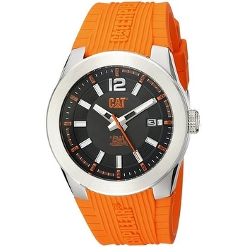 CAT WATCHES mens AB14124134 T7 Date Analog Display Quartz Orange Watch