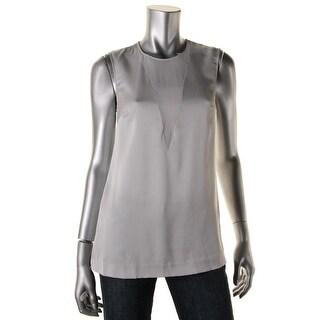 DKNY Womens Silk Sleeveless Tank Top