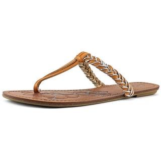 Roxy Jade Women Open Toe Synthetic Tan Flip Flop Sandal