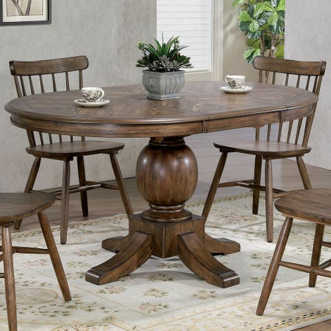 Furniture of America Nilesa Rustic 60-inch Light Oak Dining Table
