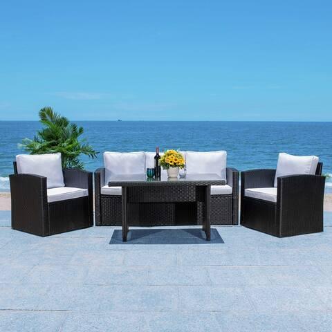 SAFAVIEH Outdoor Living Nyra 4-Piece Patio Dining Set