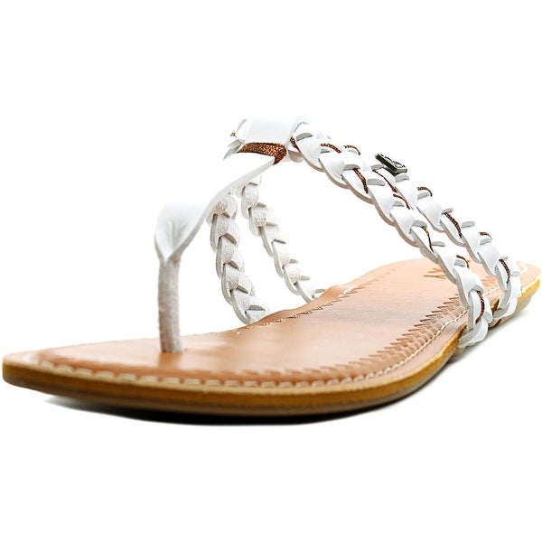 Roxy Giza Women  Open Toe Synthetic White Thong Sandal