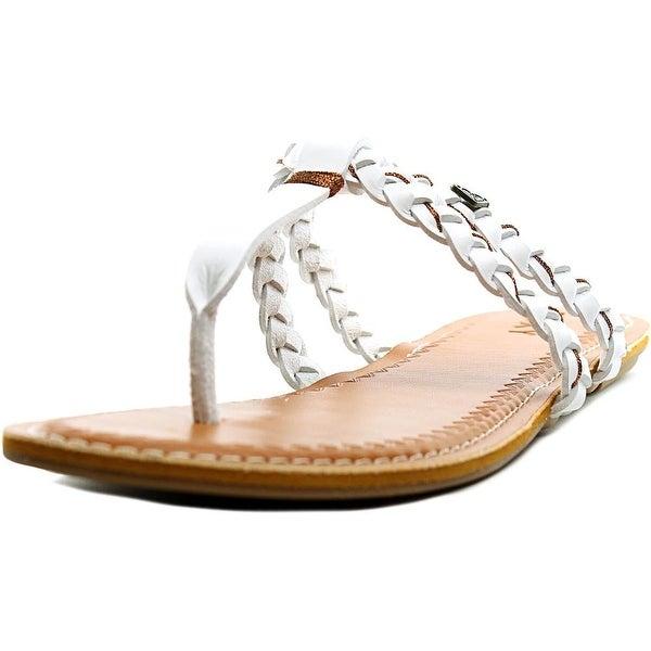 Roxy Giza Women Open Toe Synthetic White Thong Sandal