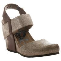 OTBT Women's Rexburg Wedge Chestnut Gold Fabric