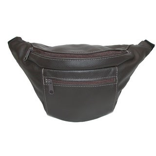CTM® Leather Large American Made Premium Waist Pack