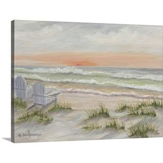 """Companions At The Ocean"" Canvas Wall Art"