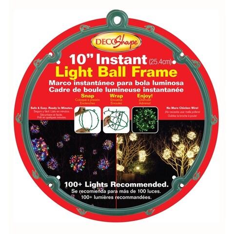 """Keystone 7000 Frame for Light Strings Christmas Decoration, 10"""", Green"""