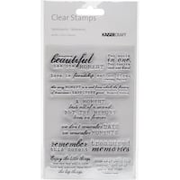 """Kaisercraft Clear Stamp 6""""X4""""-Moments"""