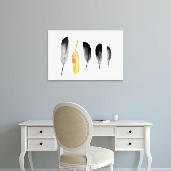 Easy Art Prints Andreas Lie's 'Goldean Feather' Premium Canvas Art