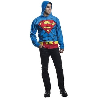 Rubies Superman Hoodie Adult Costume - Blue