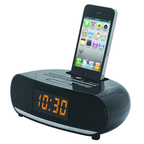 Naxa PLL Digital Alarm Clock Radio with Dock for IPod and IPhone