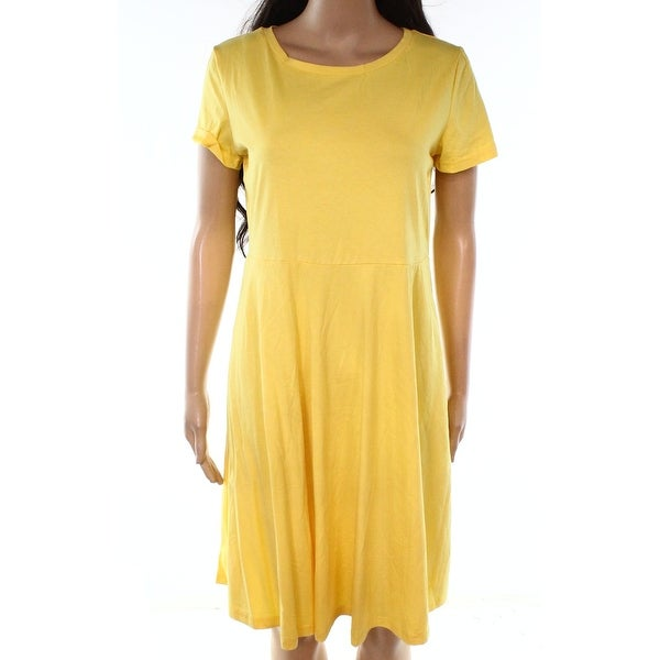 e6d219c83144 Shop Huhot Deep Yellow Womens Size Large L Scoop Neck Sheath Dress - On  Sale - Free Shipping On Orders Over $45 - Overstock - 27281267