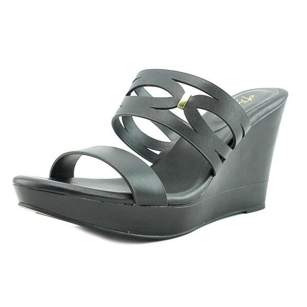 Thalia Sodi Martaa Women Open Toe Synthetic Black Wedge Sandal