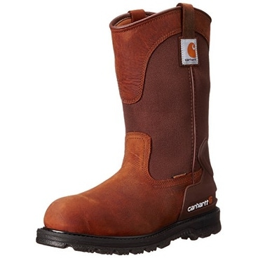 """Carhartt Mens 11"""" Wellington Steel toe Pull On Safety Shoes - 15 w"""