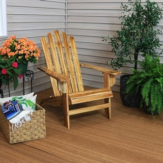 Sunnydaze Rustic Wooden Adirondack Chair with Light Charred Finish - 1
