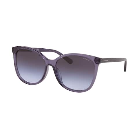 Coach HC8271U 55354Q 57 Transparent Purple Woman Square Sunglasses