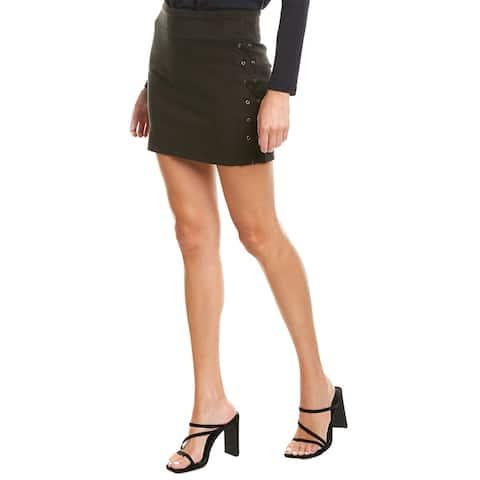 David Lerner Lace-Up Mini Skirt