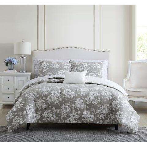 Stone Cottage Katherine Cotton Grey Comforter Set