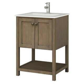 "Sunny Wood AN2421 Aiden 24"" Hardwood Vanity Cabinet Only"