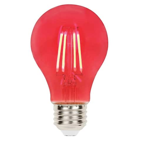 Westinghouse 5126000 Single 4.5 Watt Red A19 Medium (E26) LED Bulb
