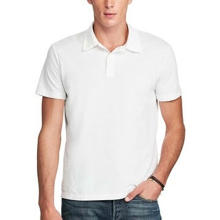 Polo Ralph Lauren White Solid Short Sleeve Polo Shirt XX-Large