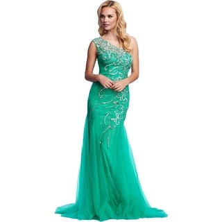Mac Duggal Womens Embellished Prom Formal Dress