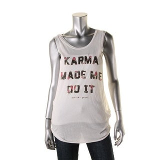 Spiritual Gangster Womens Tank Top Metallic Modal Blend