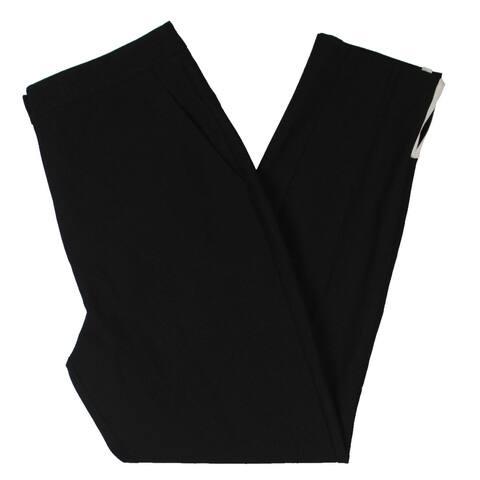 Rachel Zoe Womens Jada Pants Piping Slit Hem - Black/Ecru - 8