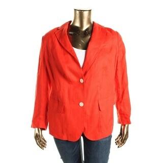Lauren Ralph Lauren Womens Panama Jacket Linen Long Sleeves