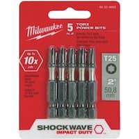 "Milwaukee 5Pk 2""T25 Torx Power Bit"