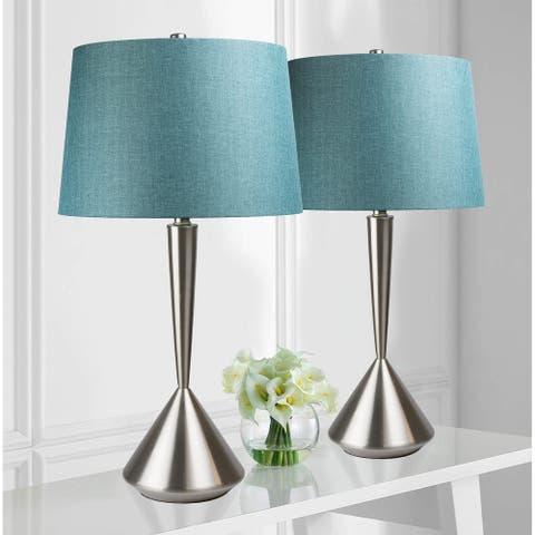 Modern Hourglass/ Linen Lamp (Set of 2) - 28.75