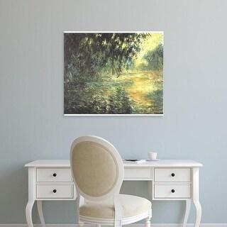 Easy Art Prints Claude Monet's 'Rainy morning on the Seine' Premium Canvas Art