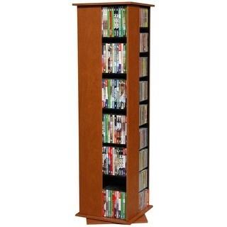 56 x 16 x 16 in. Revolving Media Library - Cherry,Small