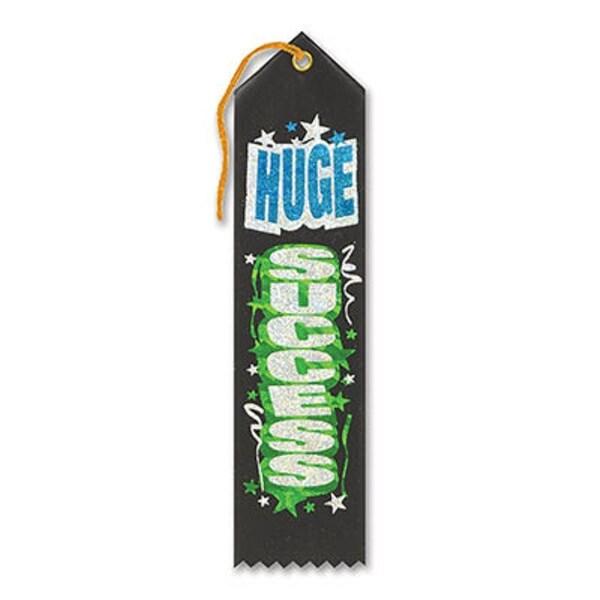 "Pack of 6 Green ""Huge Success Award"" School Award Ribbon Bookmarks 8"" - N/A"