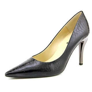 J. Renee J0096 Women Pointed Toe Leather Black Heels