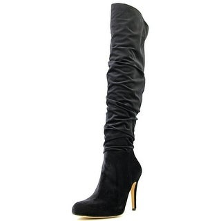 INC International Concepts Thalis Round Toe Canvas Over the Knee Boot