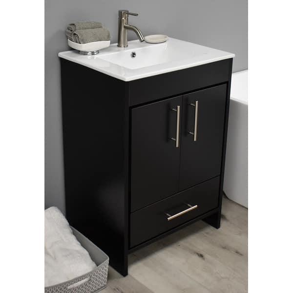 Volpa Usa Pacific 30 Inch Black Freestanding Bathroom Vanity Set Overstock 32169507