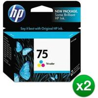 HP 75 Tri-color Original Ink Cartridge (CB337WN)(2-Pack)